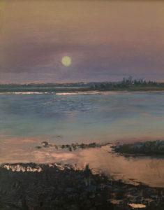 Jill Nichols Painting Cuprous Luna