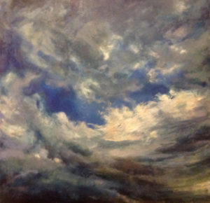 Jill Nichols Painting, Cloud in Blue Minor