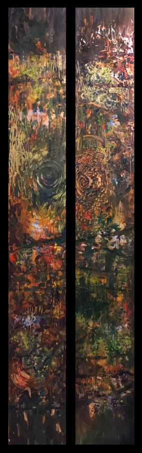 Jill Nichols Painting on aluminum, Mobius